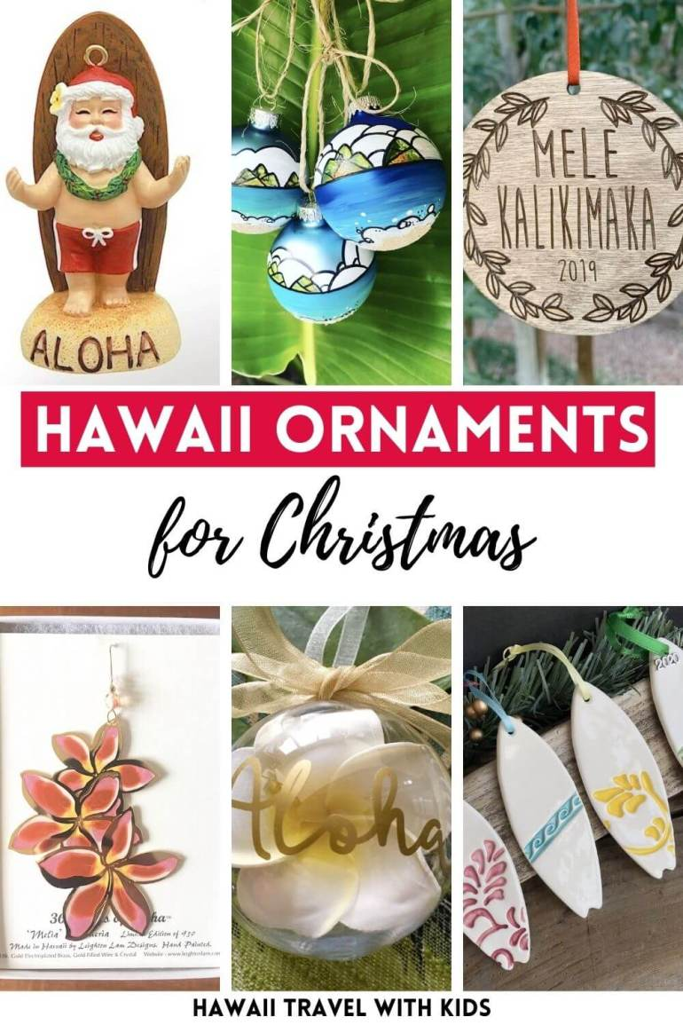 Looking for awesome Hawaiian Christmas ornaments? Check out some of the best Hawaiian Christmas decorations from top Hawaii blog Hawaii Travel with Kids