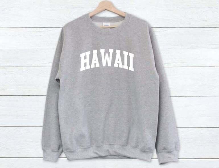 Hawaii Surfing Gifts featured by top Hawaii blog, Hawaii Travel with Kids: Hawaii Sweatshirt Hawaii Sweater Hawaii University image 5