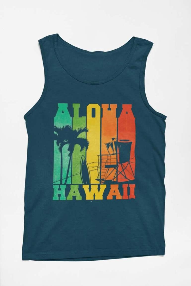 Hawaii Surfing Gifts featured by top Hawaii blog, Hawaii Travel with Kids: Retro Vintage Looking Aloha Hawaii /Surfer / Ocean Lover / image 9