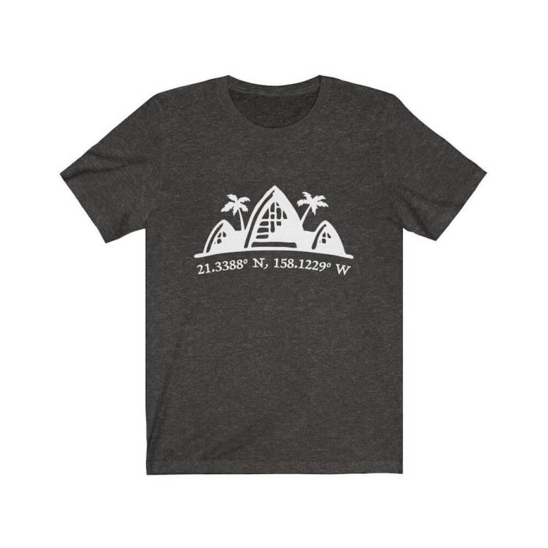 Find out the cutest Disney Aulani t-shirts to buy before your trip to Disney's Aulani Resort in Hawaii by top Hawaii blog Hawaii Travel with Kids. Image of a shirt featuring Aulani and it's coordinates.