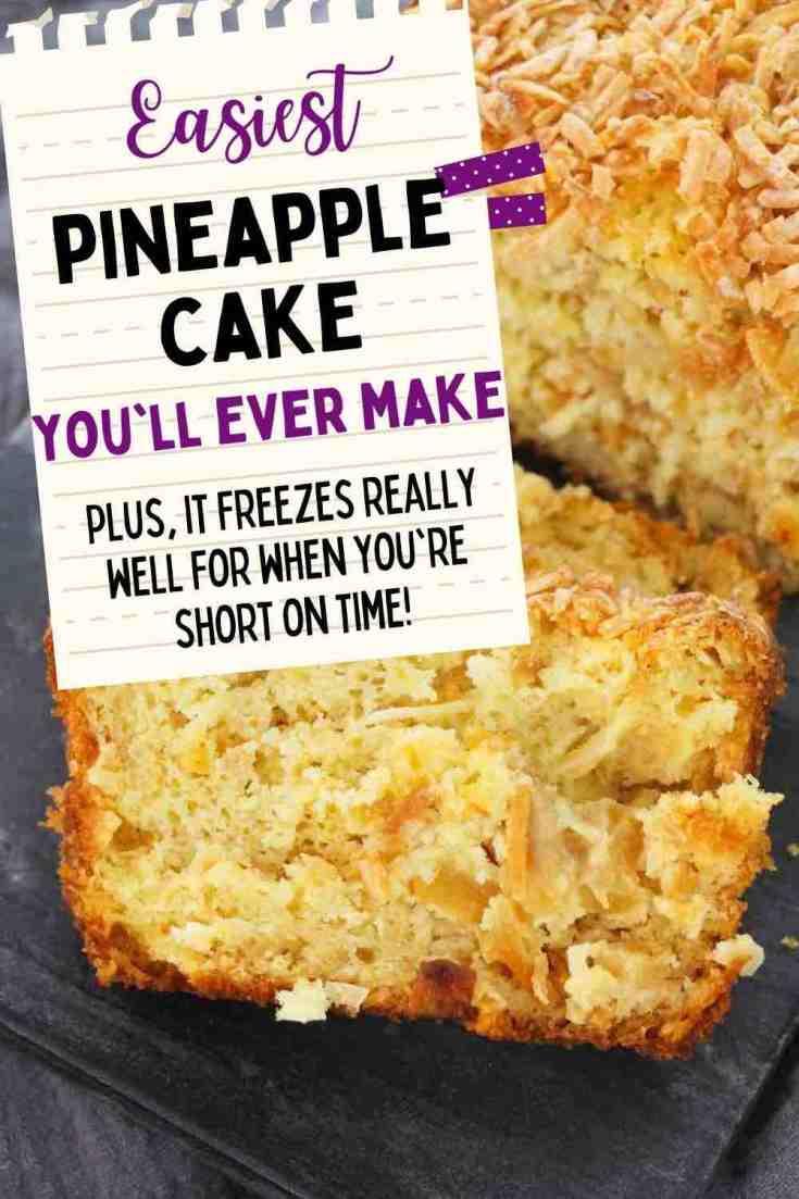 Hawaiian Desserts: Easy Pineapple Coconut Cake Recipe featured by top Hawaii blogger, Hawaii Travel With Kids: The tastist pineapple coconut cake you'll make!