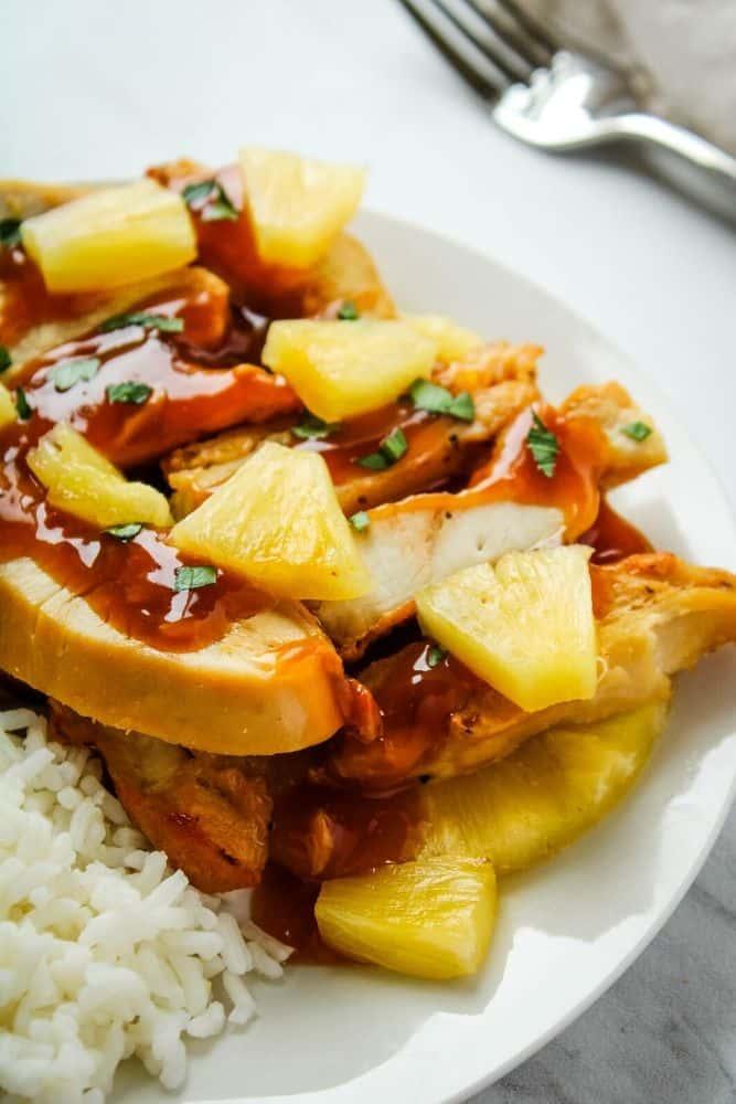 Air fryer pineapple chicken recipe