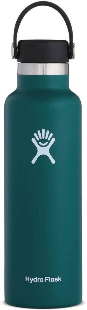 We always pack Hydro Flask water bottles for our flight to Hawaii. Image of a teal Hydro Flask water bottle.