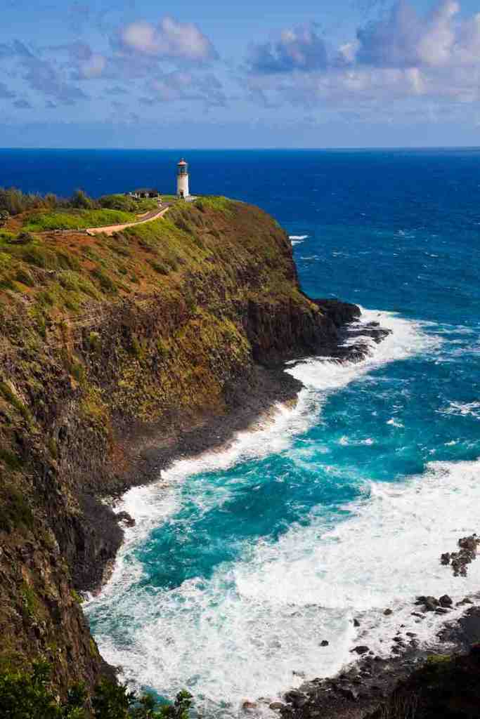 One of the best things to do on Kauai on a budget is explore Kilauea Point Image of the Kilauea Wildlife Refuge on Kauai.