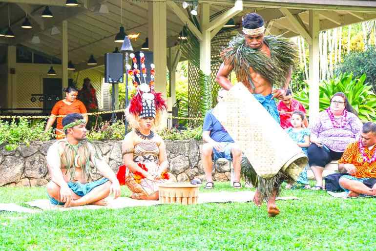 Too Luau is the best luau on Oahu North Shore. Image of a Samoan kava ceremony in Hawaii.