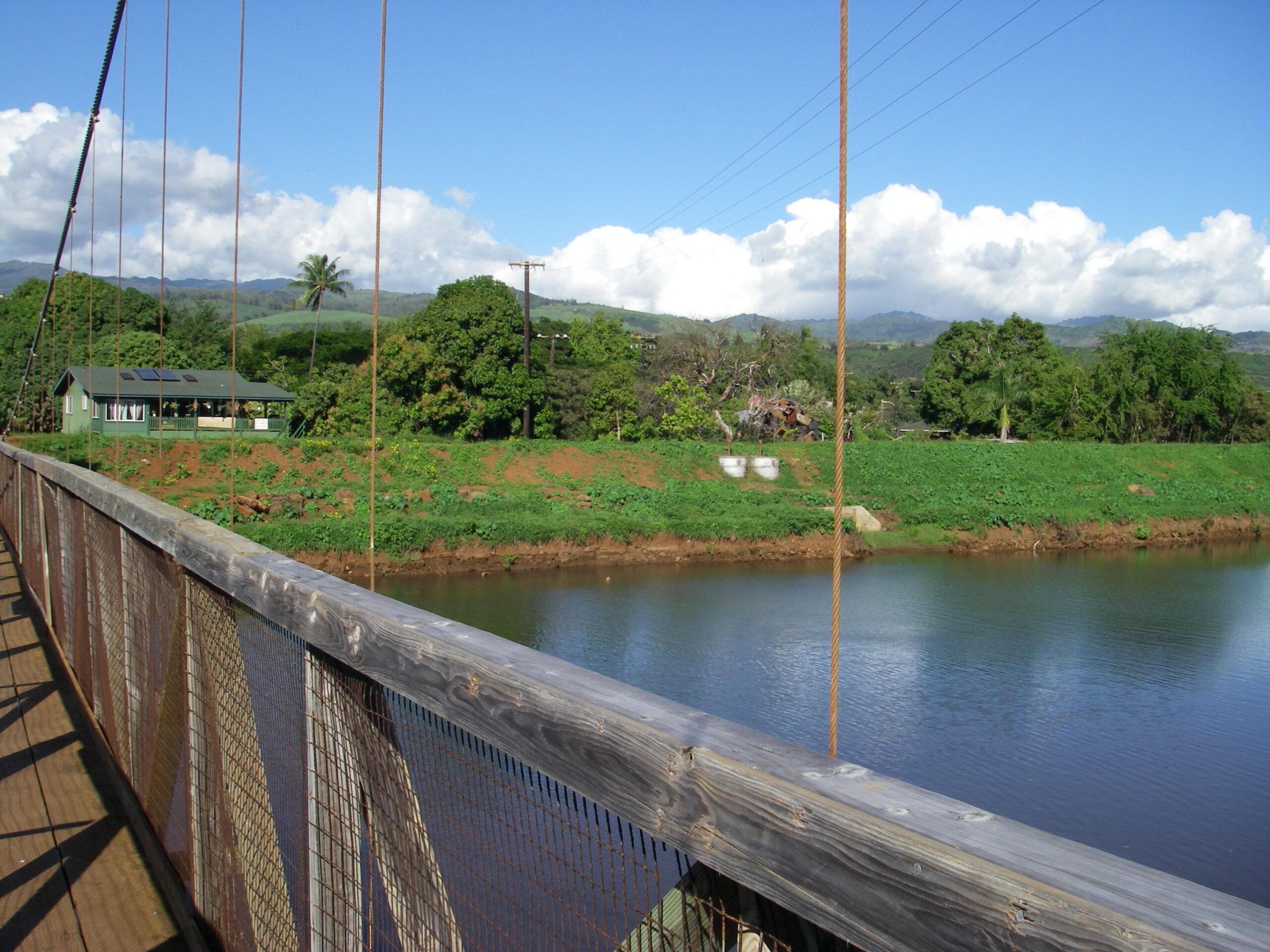 Swinging bridge in Hanapepe Kauai