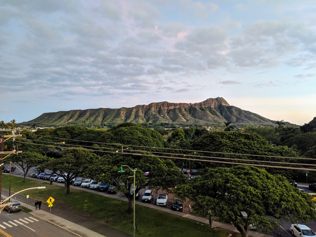 Leahi during sunset from DECK. in Waikiki
