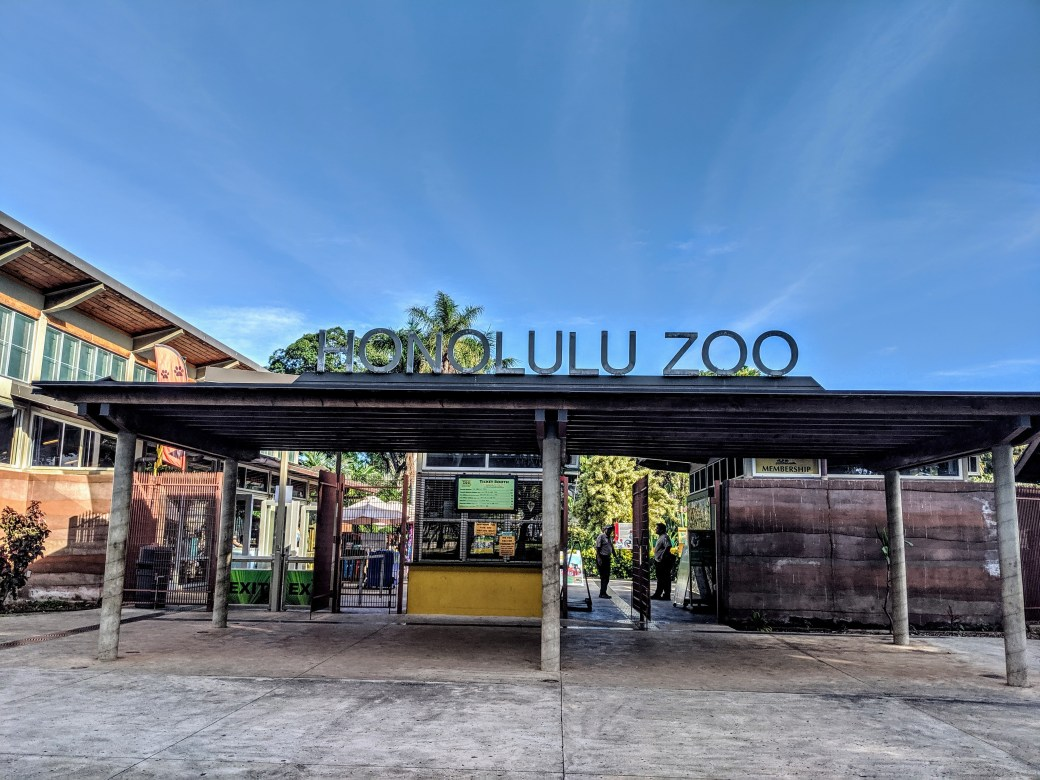 The entrance of the Honolulu Zoo
