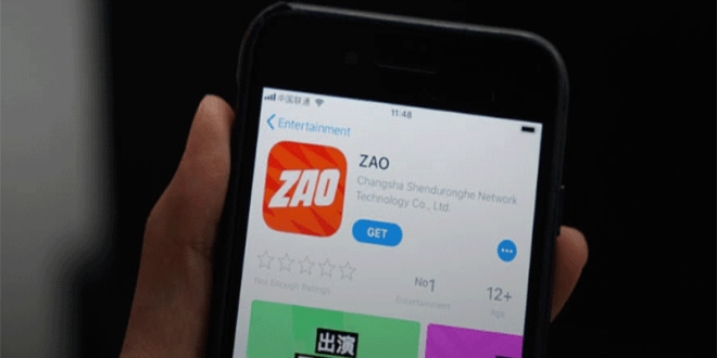 The application ZAO sparked criticism on privacy issues