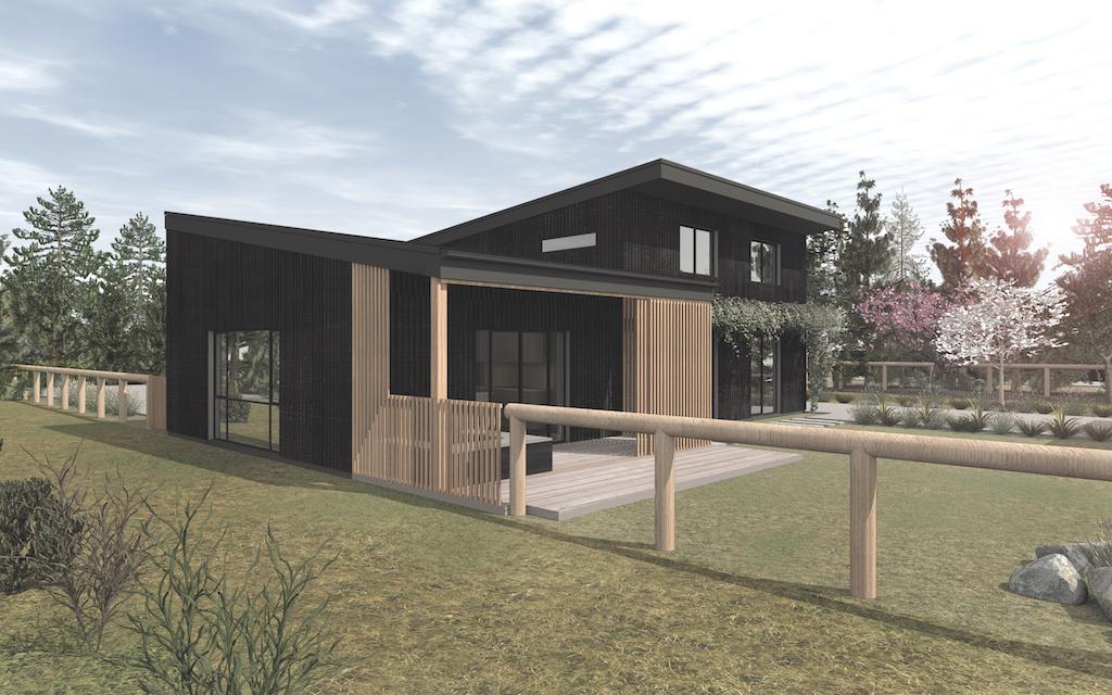 Hawea Grove eco building render