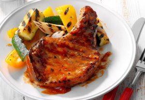 Hawg Sauce Fruit Glazed Pork Chops