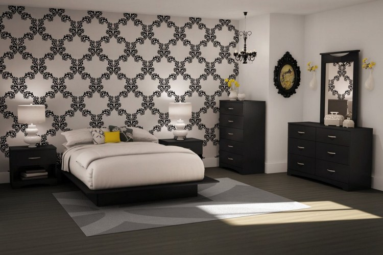Black Wallpaper Room Designs Hawk Haven