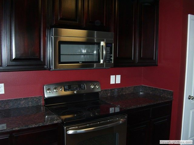 Black Kitchen Cabinets With Red Walls Hawk Haven