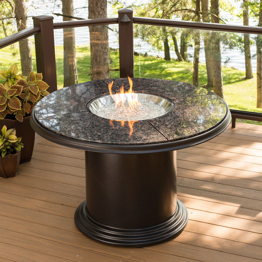 Outdoor dining tables with gas fire pit | Hawk Haven on Outdoor Dining Tables With Fire Pit id=75926
