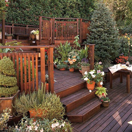 Sloped garden decking ideas | Hawk Haven on Decking Ideas For Sloping Garden id=66184