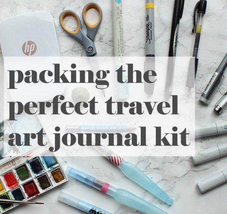 How to pack a compact kit for making an art travel journal
