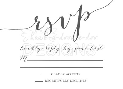 RSVP for Wedding Logo Invitation style - Option 4