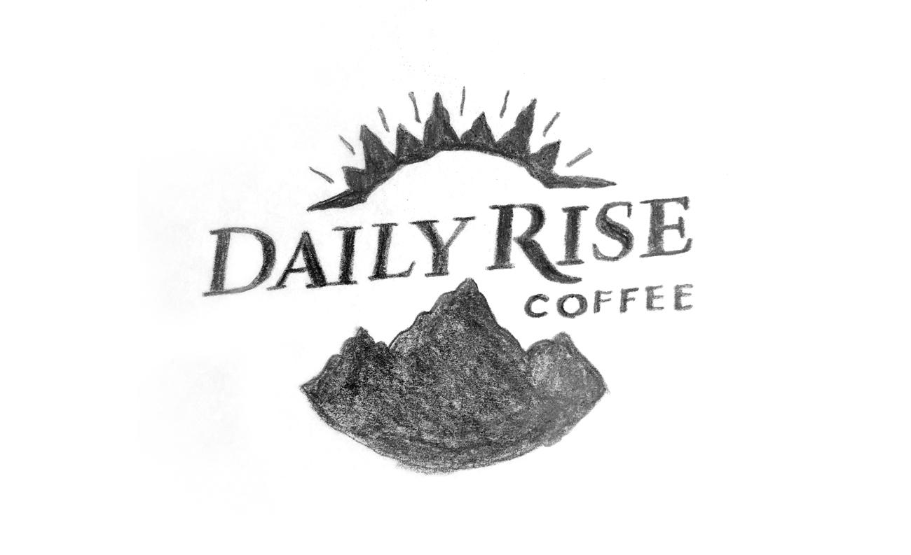 Daily Rise Logo Sketch