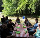 Hawkes employees have a summer picnic.