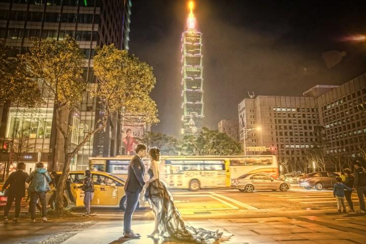 攝影服務 台灣拍婚紗@台北101夜景-婚攝Hawk