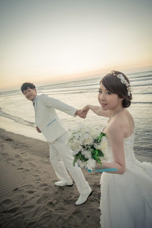 浪漫海灘婚紗-台北婚攝Hawk