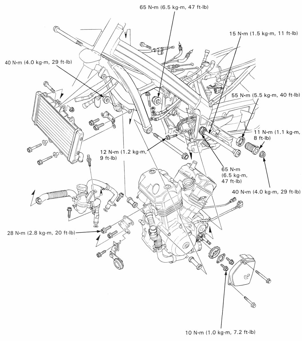 Honda Nt650 Service Manual Section 6 Engine Removal Installation