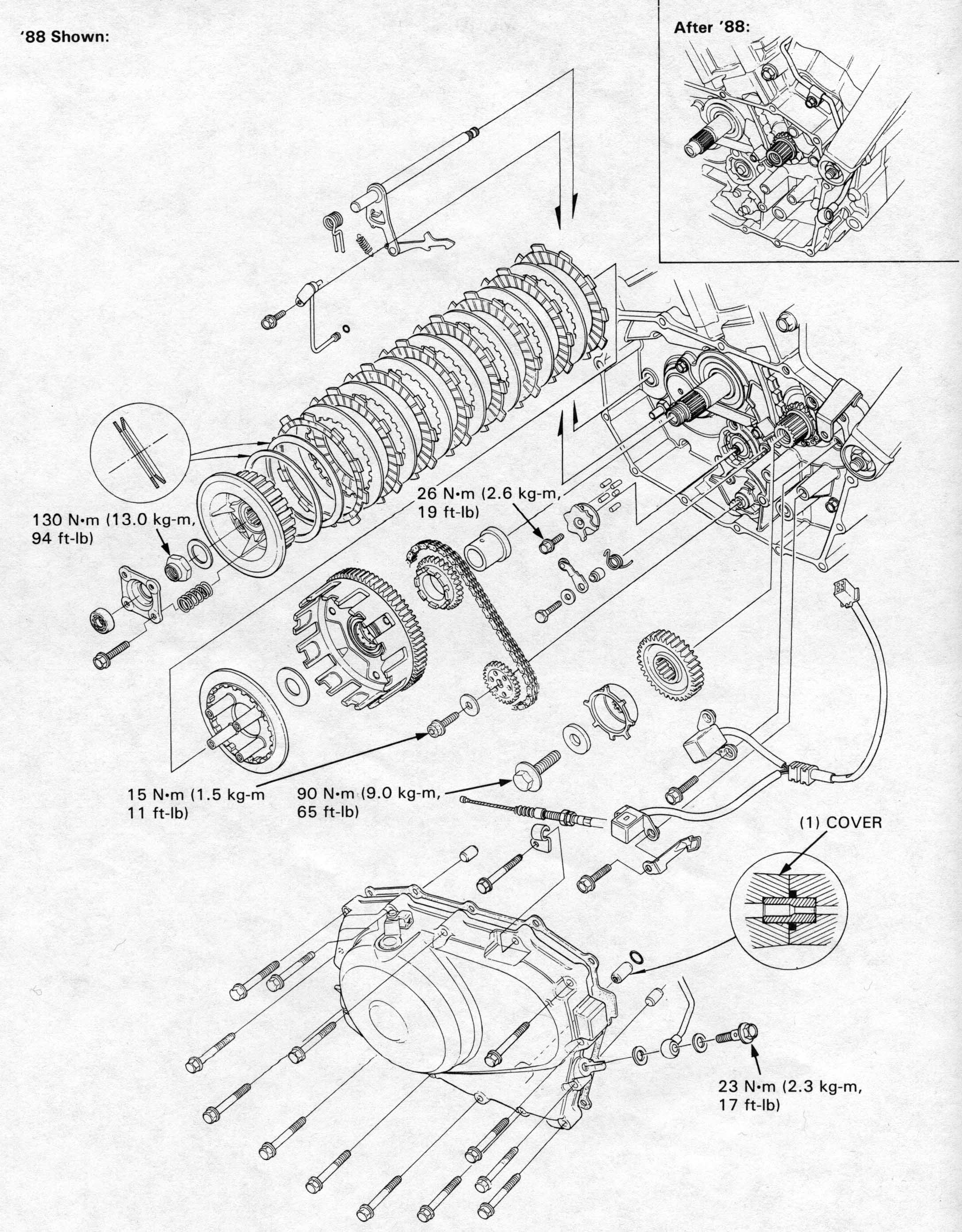 Honda Nt650 Service Manual Section 7 Cluch Gearshift Linkage