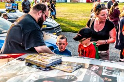 Tyler Hawn showing some young race fans some gratitude!