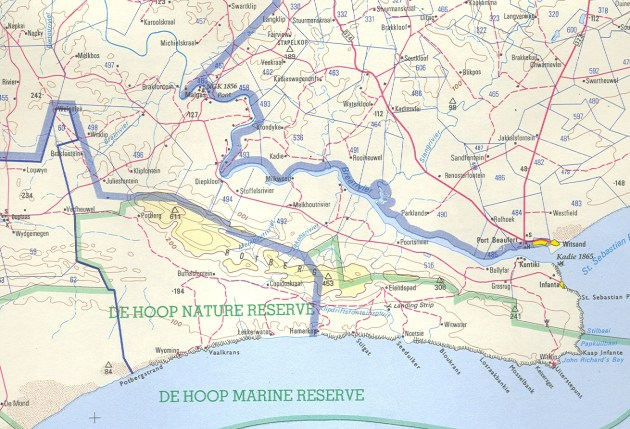 Map 1. Southern Potberg