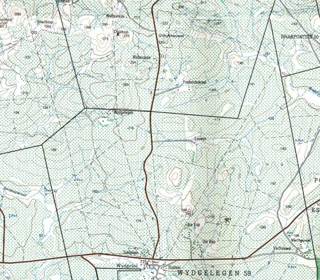 Map 3. Die Kop, Wydgelee.