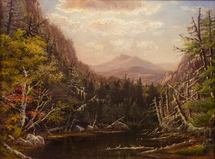 Susie M. Barstow (1836-1923), In the White Mountains, 1872. Oil on canvas, 9 x 12 3/4 inches. Signed and dated 1872, lower right. Collection of Hawthorne Fine Art.