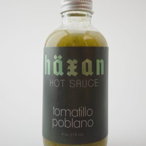 Tomatillo Poblano Hot Sauce