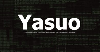 Yasuo – Tool For Detecting Vulnerable & Exploitable 3rd-party Web Applications