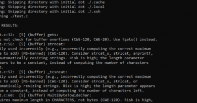 Flawfinder v2.0.7 – Searches through C/C++ source code looking for potential security flaws