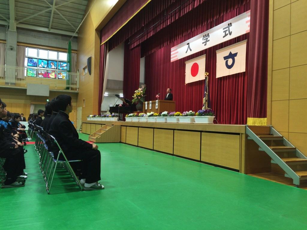 平成28年度 知多市立八幡中学校入学式