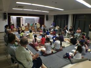 津島神社 ちょうちん祭り 子ども囃子練習