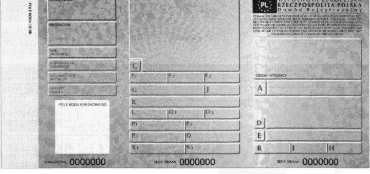 Dowod Rejestracyjny wzor