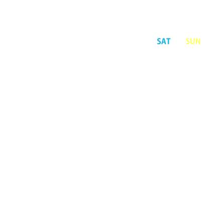 2019年8月営業日