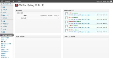 GD Star Rating- 評価一覧