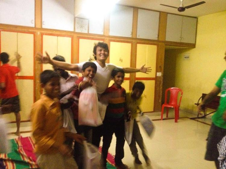 orphanage visit.