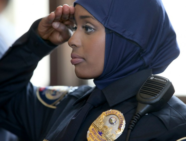 FIRST HIJAB WEARING POLICE WOMAN