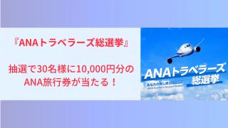 ANAトラベラーズ総選挙に投票すると抽選で10,000円分のANA旅行券が当たる!