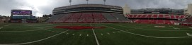 A full panoramic view of Arkansas' Reynolds Stadium