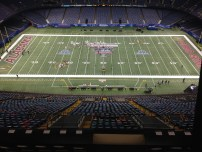 Made it all the way to the rafters in the SuperDome to get a full view of the Sugar Bowl field.