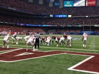 Alabama drives the ball down the field early against Ohio State