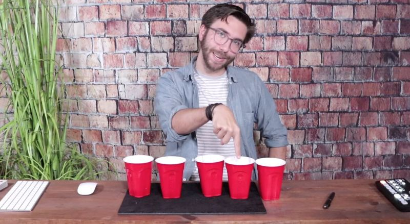 Virtual Magic Trick with solo cups