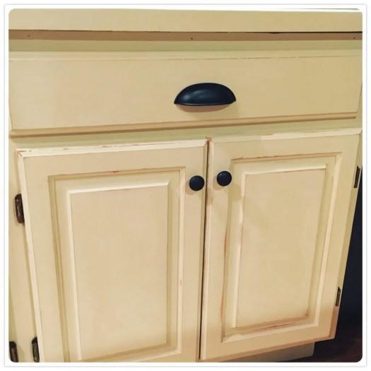 Cabinets Distressed Up Close