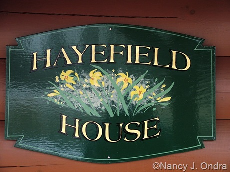 Hayefield House sign Jan 22 08