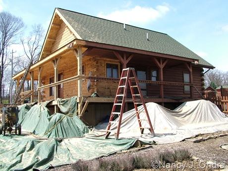 Hayefield House restoration mid-April 2011