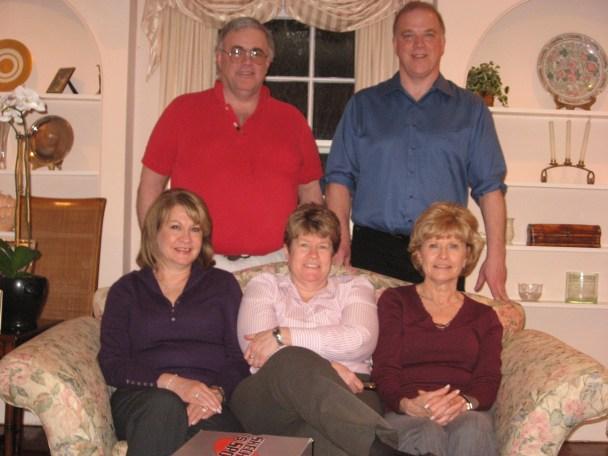 Third Cousins J. Jerald Hayes, Philip Hayes, Regina Haffey, Ann Haffey and Patricia Clemency